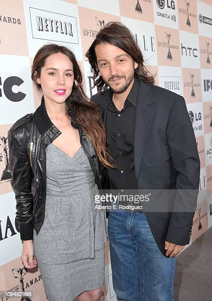 Camila Sodi and Diego Luna arrive at the 2011 Film Independent Spirit Awards at Santa Monica Beach on February 26 2011 in Santa Monica California
