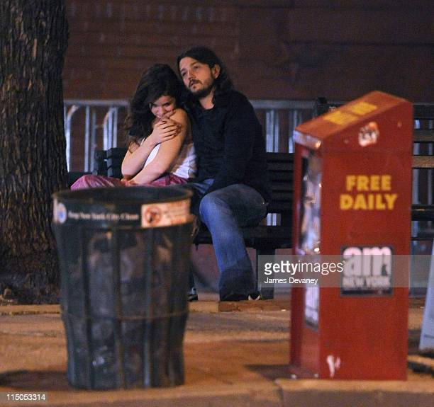 *EXCLUSIVE* Camila Sodi and Diego Luna seen outside Da Silvano on April 28 2009 in New York City