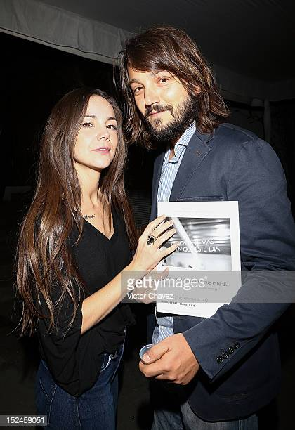 Camila Sodi and her husband Diego Luna attend the Yvonne Venegas exhibition at Museo Carrillo Gil on September 20 2012 in Mexico City Mexico