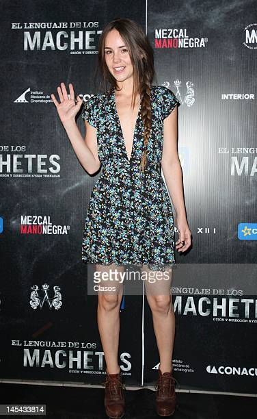Camila Sodi at the red carpet of the movie El Lenguaje de los Machetes in Cinepolis Bucareli on May 28 2012 in Mexico City