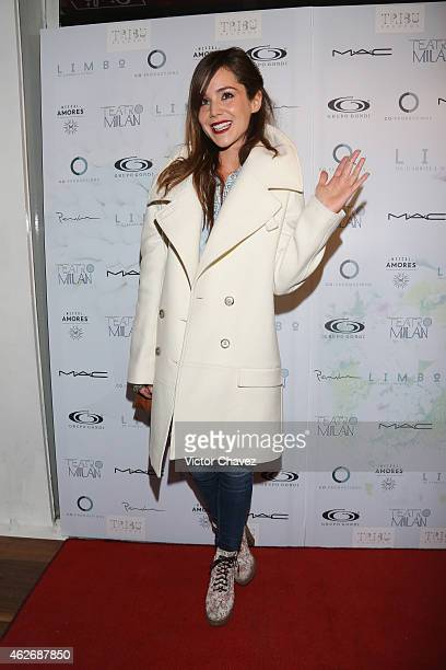 Camila Sodi attends the premiere of the play Limbo at Teatro Milan on February 2 2015 in Mexico City Mexico