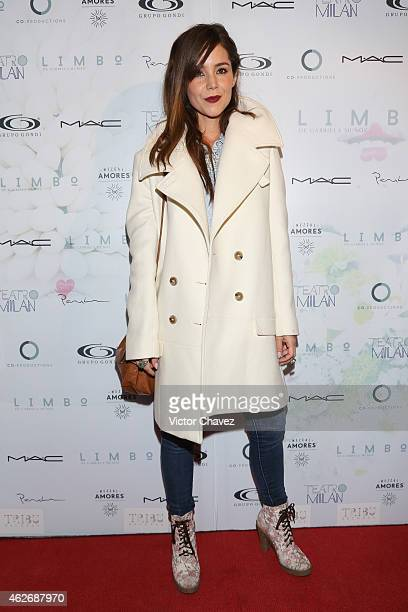 Camila Sodi attends the premiere of the play 'Limbo' at Teatro Milan on February 2 2015 in Mexico City Mexico