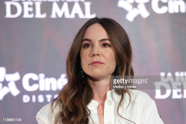 Camila Sodi during film 'La Herencia del Mal' press conference at CinÈpolis Portal San Angel on March 28 2019 in Mexico City Mexico