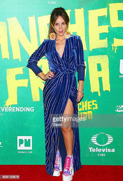 Camila Sodi poses for pictures on the red carpet prior No Manches Frida movie premiere on September 13 2016 in Mexico City Mexico