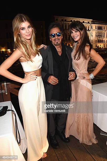 Camila Sola actor Al Pacino and girlfriend Lucila Sola attend the Exclusive Dinner hosted by Andrea Iervolino and Monika Bacardi during the 71st...