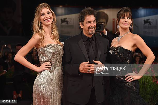 Camila Sola actor Al Pacino wearing a JaegerLeCoultre watch and Lucila Sola attend the 'The Humbling' the premiere during the 71st Venice Film...