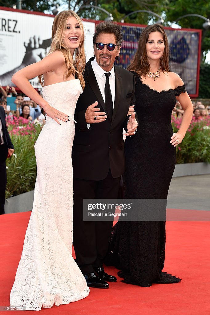 Camila Sola (L) with Al Pacino (C) and Lucila Sola attend the 'Manglehorn' premiere during 71st Venice Film Festival on August 30, 2014 in Venice, Italy.
