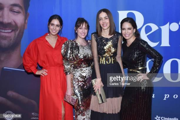 Camila Valero, Mariana Treviño, Cecilia Suarez and Ana Claudia Talancon poses for photos during a red carpet as part of the film 'Perfectos...