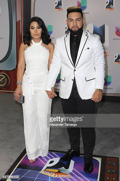 Camilaa Inc and Lejuan James attends the Univision's 13th Edition Of Premios Juventud Youth Awards at Bank United Center on July 14 2016 in Miami...