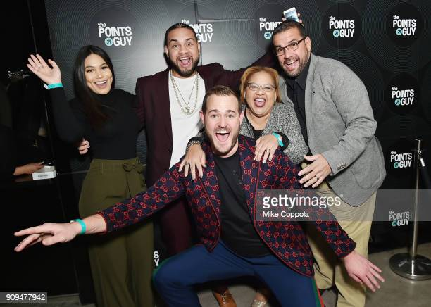 Camilaa Inc LeJuan James founder and CEO of The Points Guy Brian Kelly Ingrid Tejeda and Juan R Atiles attend The Points Guy Presents TPG Soundtracks...