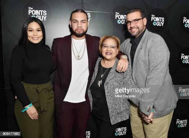 Camilaa Inc LeJuan James Ingrid Tejeda and Juan R Atiles attend The Points Guy Presents TPG Soundtracks PreGrammy Party With Lil Uzi Vert on January...