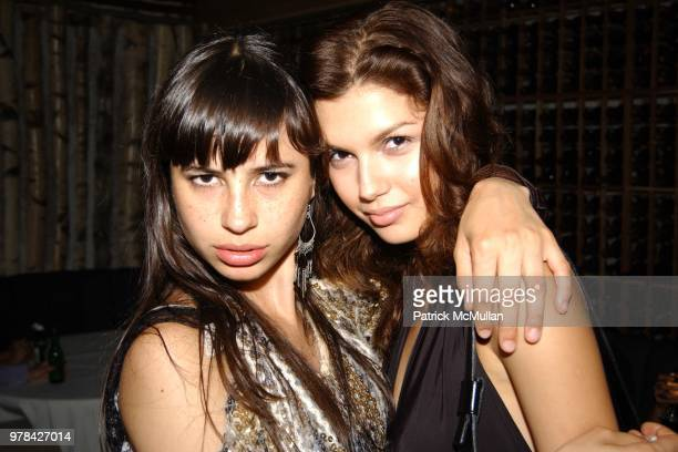 Camilia Dubay and Alejandra Cata attend the Wayuu Taya Foundation Benefit Honoring Katie Ford and Carolina Herrera at Butter on June 23 2003 in New...
