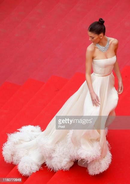 Camilia Morrone attends the screening of Once Upon A Time In Hollywood during the 72nd annual Cannes Film Festival on May 21 2019 in Cannes France