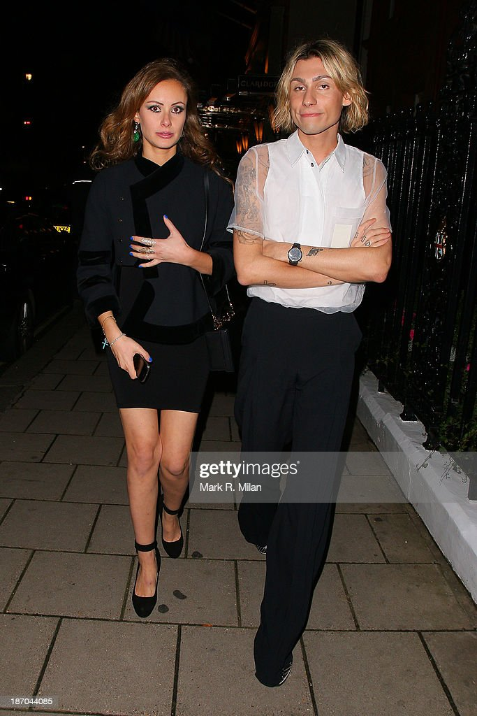Camilla Al Fayed and Kyle De'volle attending the Harper's Bazaar Women of the Year Awards on November 5, 2013 in London, England.