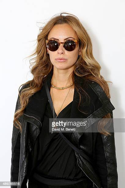 Camilla Al Fayed attends the Issa Spring/ Summer 2016 London Fashion Week Show at BFC Show Space on September 20 2015 in London England