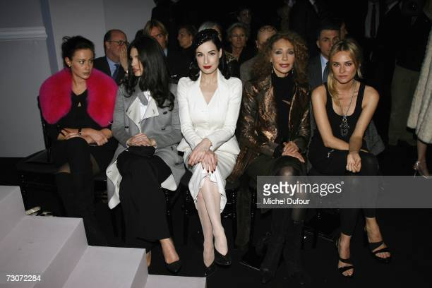 Camilla Al Fayed Bojana Panic Dita Von Teese Marisa Berenson and Diane Kruger attends the Christian Dior Fashion show during Paris Fashion Week...