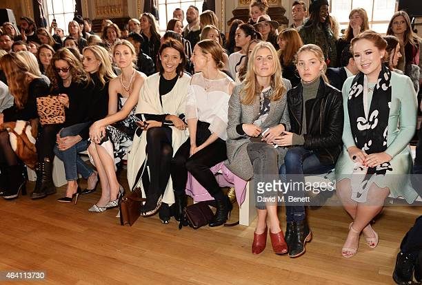 Camilla Al Fayed Lauren Santo Domingo Whitney Port Hikari Yokoyama Tiphaine de Lussy Donna Air daughter Freya Air Aspinall and Tanya Burr attend the...
