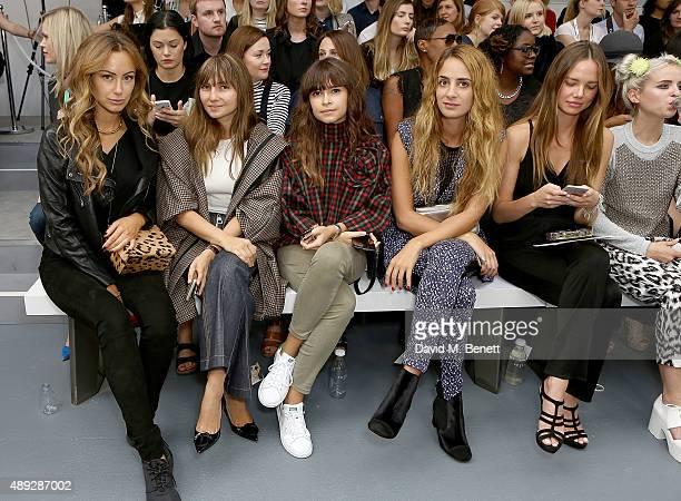 Camilla Al Fayed Nasiba Adilova Miroslava Duma Alexia Niedzielski Alicia Rountree and Kyla La Grange attend the Issa Spring/ Summer 2016 London...