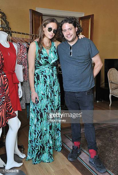 Camilla AlFayed and Adam Waymouth attend a cocktail party hosted by Camilla AlFayed to launch the Banana Republic Issa London collection at Claridges...
