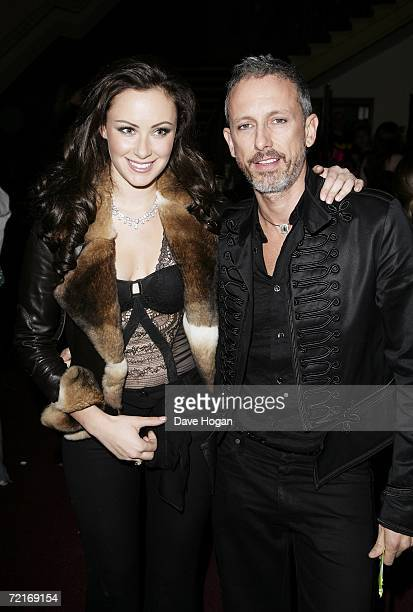 Camilla AlFayed and designer Patrick Cox arrive at the The Secret Policeman's Ball at The Royal Albert Hall October 14 2006 in London England The...
