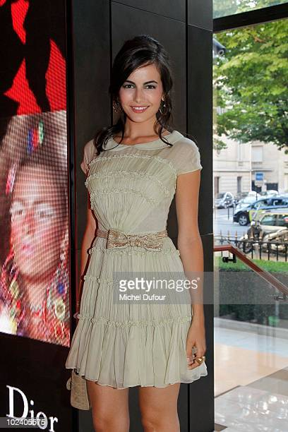 Camilla Bell attnds the Rouge Dior Lipstick Launch Party by Dior MakeUp at Hotel Paris Plaza Athenee on June 24 2010 in Paris France