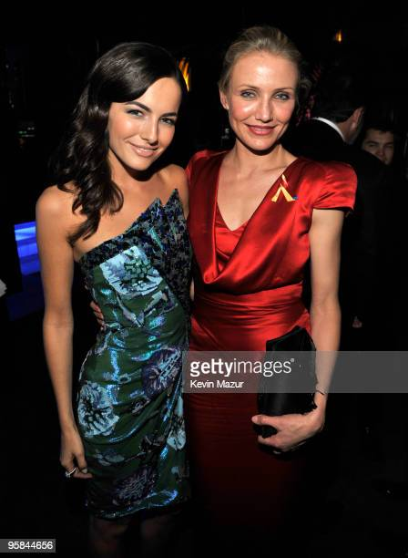 Camilla Belle and Cameron Diaz attends the InStyle and Warner Bros 67th Annual Golden Globes postparty held at the Oasis Courtyard at The Beverly...