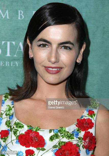 Camilla Belle arrives at the 11th Annual Celebration Of The 2018 Female Oscar Nominees Presented By Women In Film at Crustacean on March 2 2018 in...
