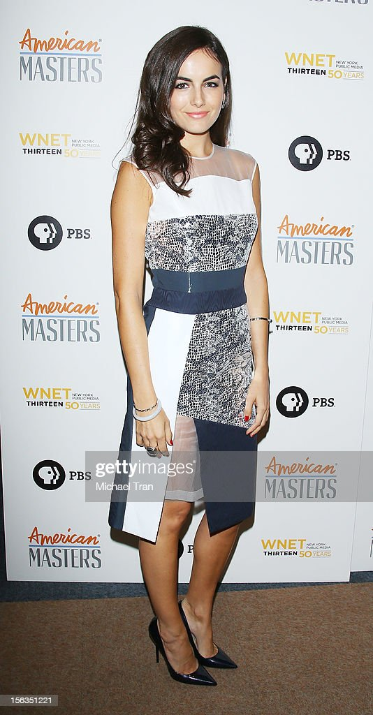 Camilla Belle arrives at the Los Angeles premiere of 'Inventing David Geffen' held at Writer's Guild Theater on November 13, 2012 in Los Angeles, California.