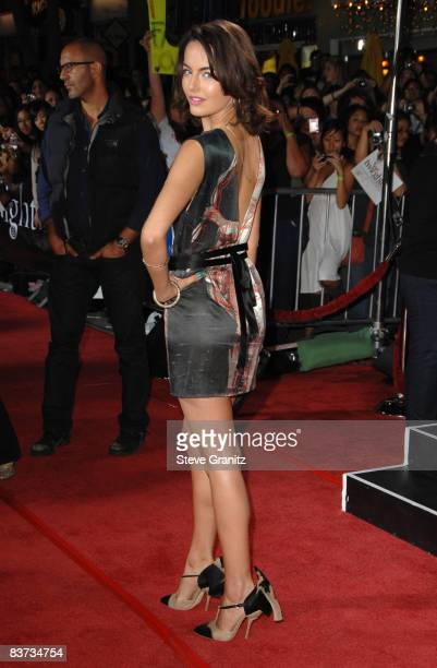 Camilla Belle arrives at the Los Angeles premiere of 'Twilight' at the Mann Village and Bruin Theaters on November 17 2008 in Westwood California