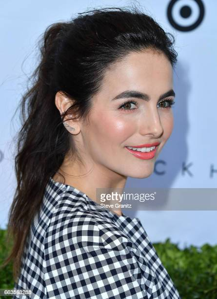 Camilla Belle arrives at the Victoria Beckham For Target Launch Event at Private Residence on April 1 2017 in Los Angeles California