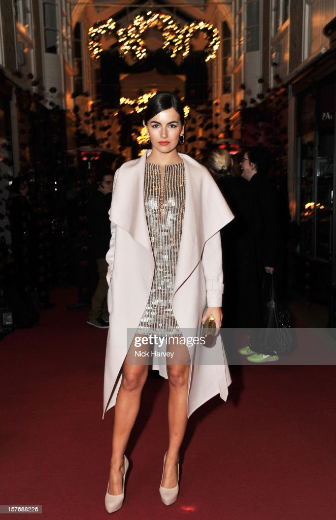 Camilla Belle attends a dinner at Burlington Arcade after the flagship store launch of Salvatore Ferragamo's Old Bond Street Boutique at 24 Old Bond Street on December 5, 2012 in London, England.