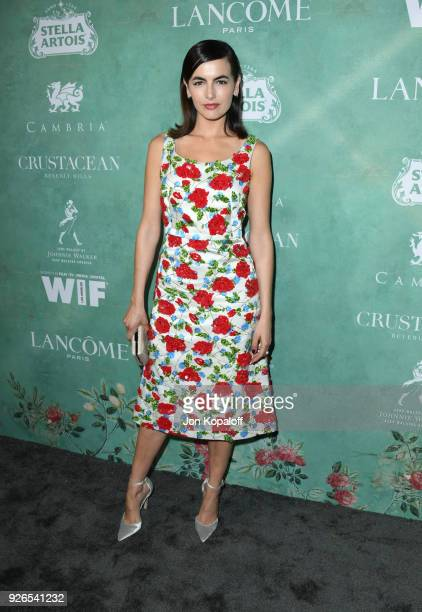 Camilla Belle attends the 11th annual celebration of the 2018 female Oscar nominees presented by Women in Film at Crustacean on March 2 2018 in...