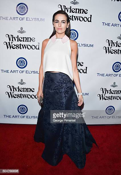 Camilla Belle attends the Art of Elysium 2016 HEAVEN Gala presented by Vivienne Westwood Andreas Kronthaler at 3LABS on January 9 2016 in Culver City...