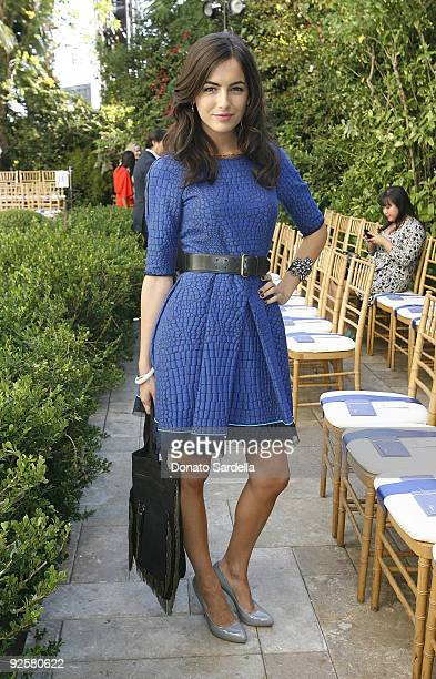LOS ANGELES CA OCTOBER 30 Camilla Belle attends the CFDA/Vogue Fashion Fund Event at Chateau Marmont on October 30 2009 in Los Angeles California