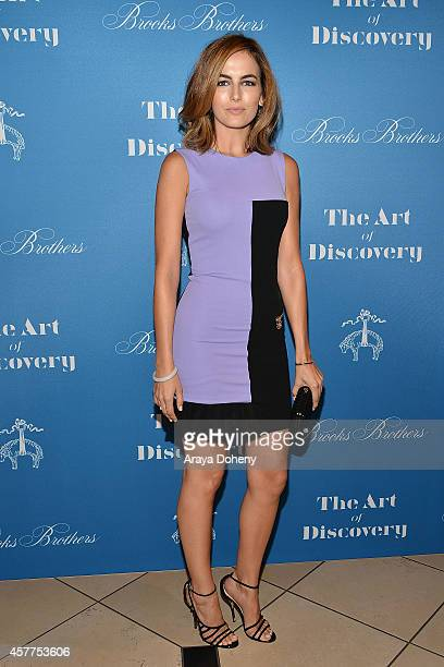 Camilla Belle attends the LA launch for Jeff Vespa's new book 'The Art of Discovery' at Brooks Brothers Rodeo on October 23 2014 in Beverly Hills...