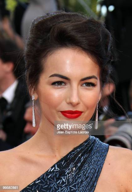 Camilla Belle attends the Premiere of 'Wall Street: Money Never Sleeps' held at the Palais des Festivals during the 63rd Annual International Cannes...