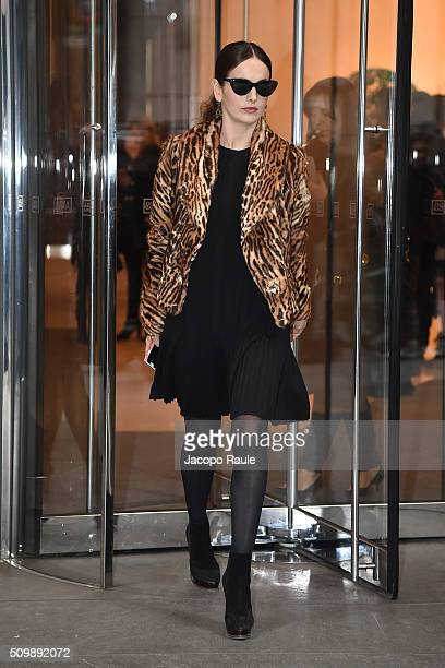 Camilla Belle is seen leaving the Polo Ralph Lauren presentation during Fall 2016 New York Fashion Week on February 12 2016 in New York City