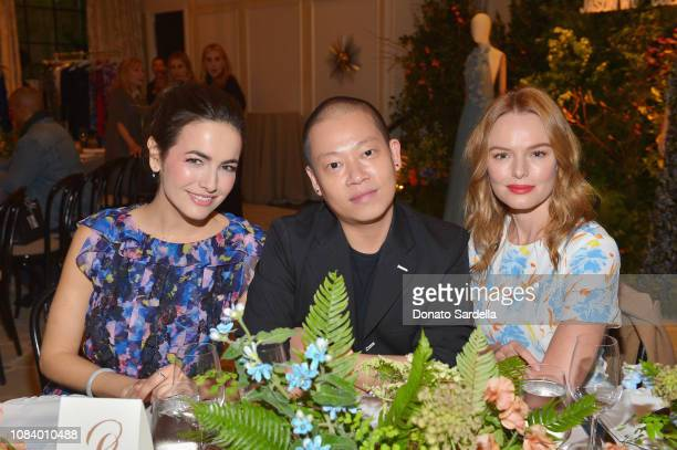 Camilla Belle Jason Wu and Kate Bosworth attend a luncheon hosted by Marc Metrick President of Saks Fifth Avenue and Mary Martin with Jason Wu on...