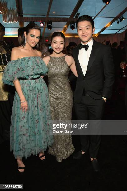 Camilla Belle Maia Shibutani and Alex Shibutani attend the Netflix 2019 Golden Globes After Party on January 6 2019 in Los Angeles California