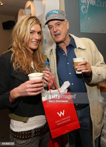 Camilla Cleese and actor John cleese visit the Kari Feinstein Sundance Style Lounge on January 19 2009 in Park City Utah