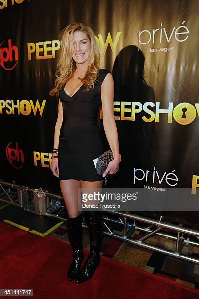 Camilla Cleese arrives at the opening of PEEPSHOW at Planet Hollywood Resort Casino on April 18 2009 in Las Vegas Nevada