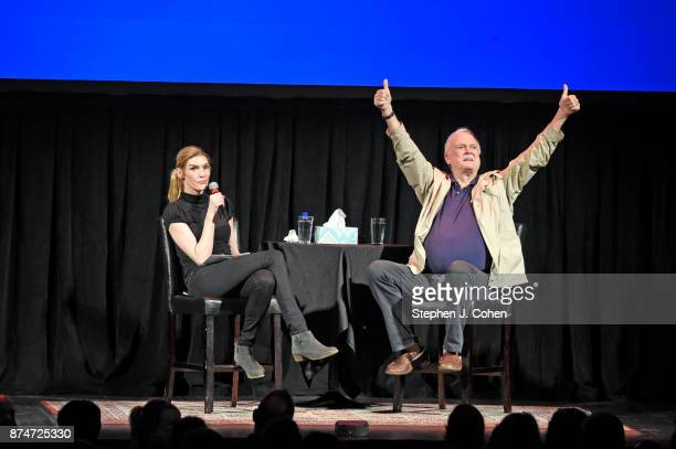 Camilla Cleese interviews her father John Cleese at The Louisville Palace on November 15 2017 in Louisville Kentucky