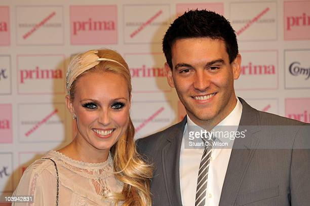 Camilla Dallerup and actor Kevin Sacre attend the Comfort Prima High Street Fashion Awards 2010 at Battersea Evolution on September 9 2010 in London...