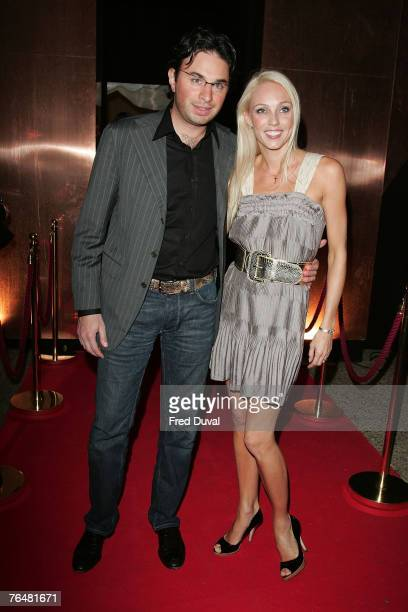 Camilla Dallerup and Fabio D'Allonzo arrive at Hell's Kitchen at the 3 Mills Studio on September 2 2007 in London England