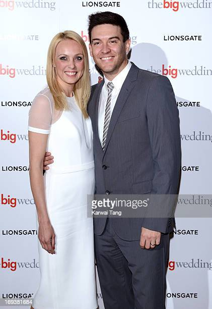 Camilla Dallerup and guest attend a special screening of 'The Big Wedding' at May Fair Hotel on May 23 2013 in London England