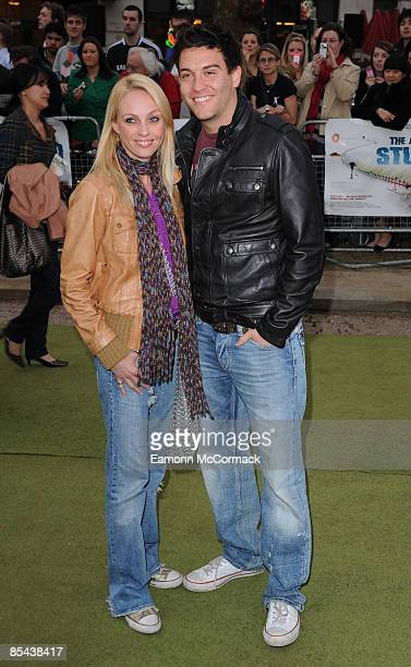 Camilla Dallerup and Guest attend the premiere of The Age of Stupid at Leicester Square gardens on March 15 2009 in London England