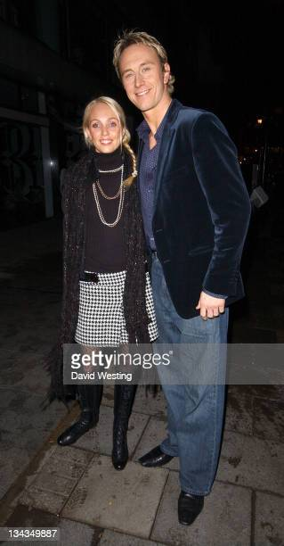Camilla Dallerup and Ian Waite during Celebrity Sightings at The Embassy Club at Embassy Club in London Great Britain