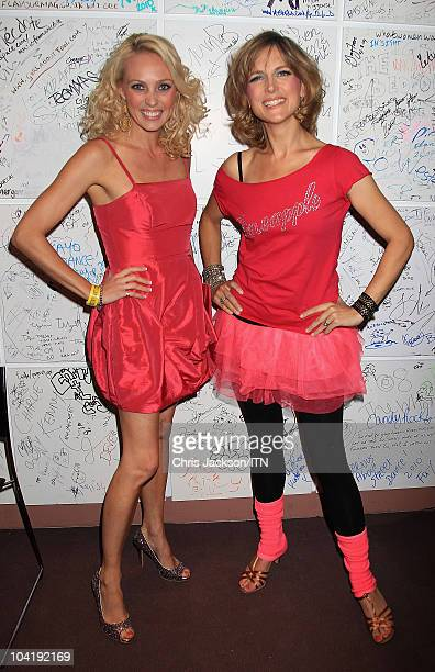 Camilla Dallerup and Katie Derham from ITV News during a portrait session at Betfair's 'Newsroom's Got Talent', which raises funds for three...