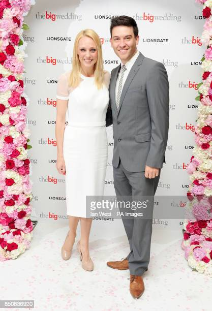 Camilla Dallerup and Kevin Sacre arriving at a screening of The Big Wedding at the Mayfair Hotel in London PRESS ASSOCIATION Photo Picture date...