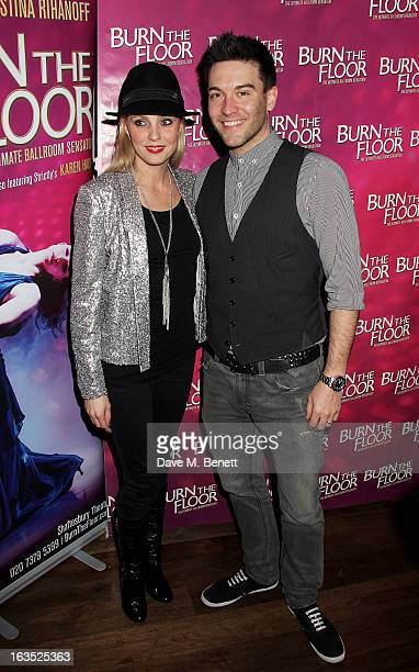 Camilla Dallerup and Kevin Sacre attend an after party celebrating the press night performance of 'Burn The Floor' at the Trafalgar Hotel on March...
